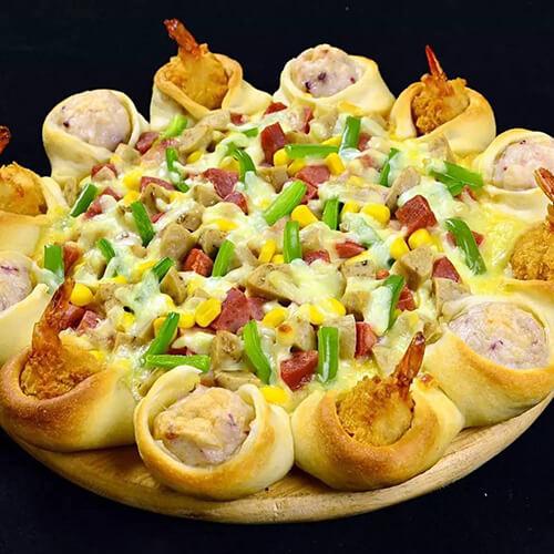 墨鱼丸披萨