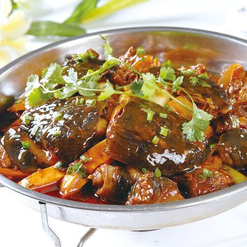 土豆白菜焖甲鱼