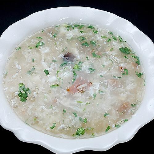 双菇鸡蛋汤