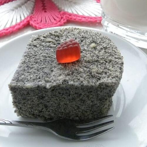 黑芝麻豆渣糕