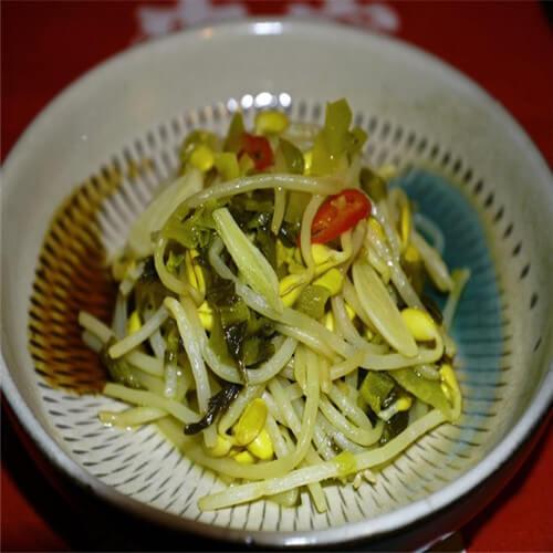 豆芽炒酸菜