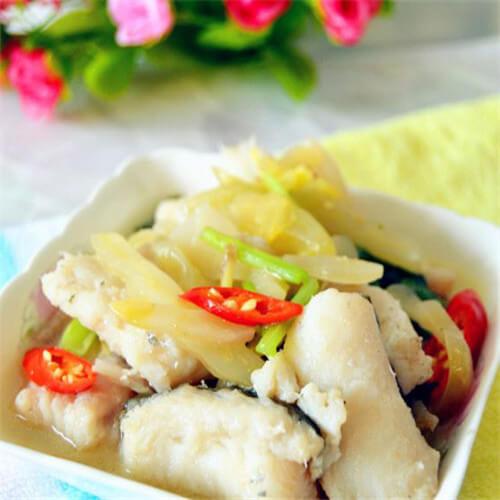 咸菜炒海鳗