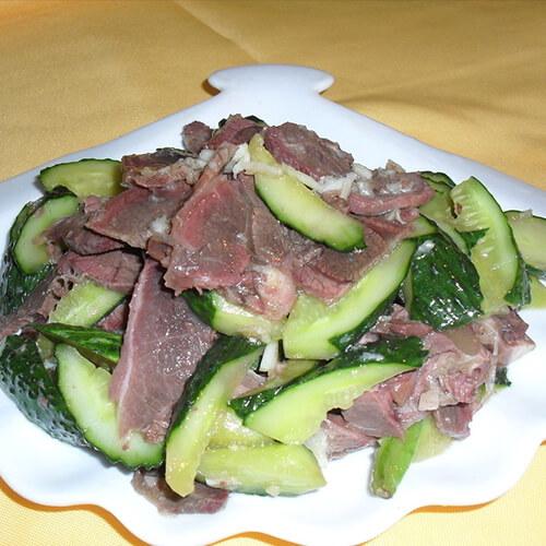 青瓜拌五香驴肉