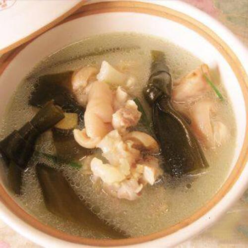 海带花生猪脚汤