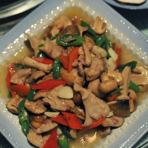 青椒腊肉青头菌