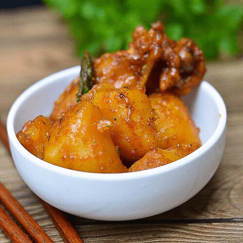 土豆蒜香鸡翅根