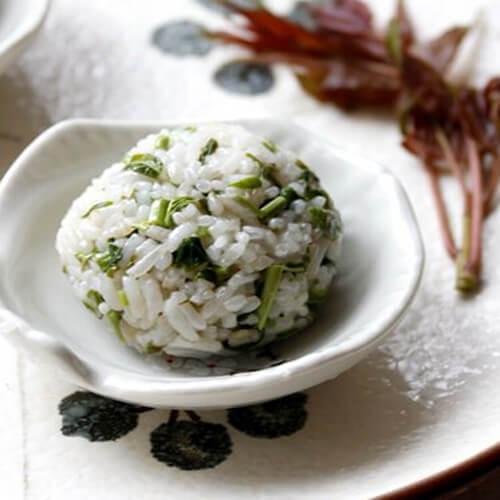 自制香椿饭团