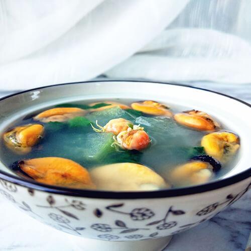 海虹冬瓜蔬菜汤
