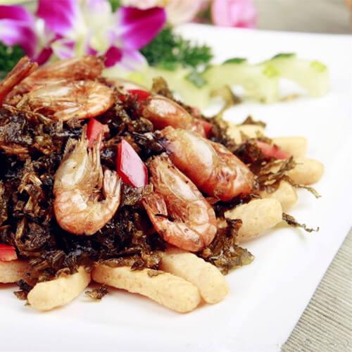 基围虾炒肉