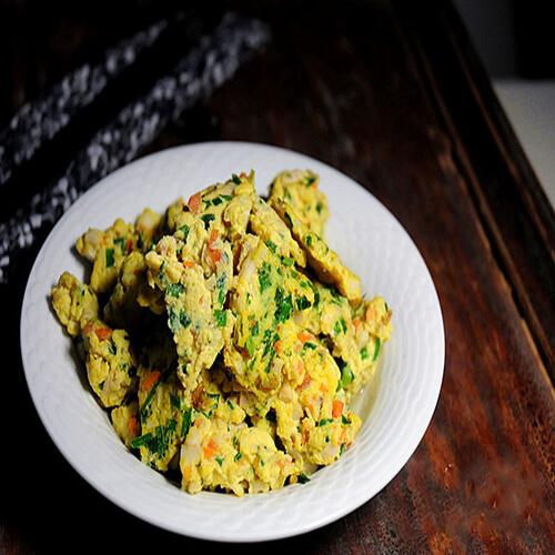 牛肉末韭菜炒鸡蛋
