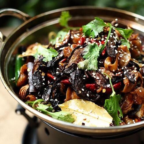 干锅黑牛肝菌