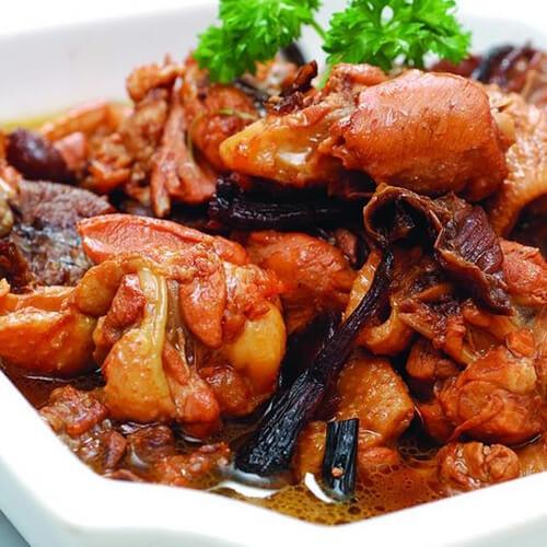 素版小鸡榛蘑炖土豆