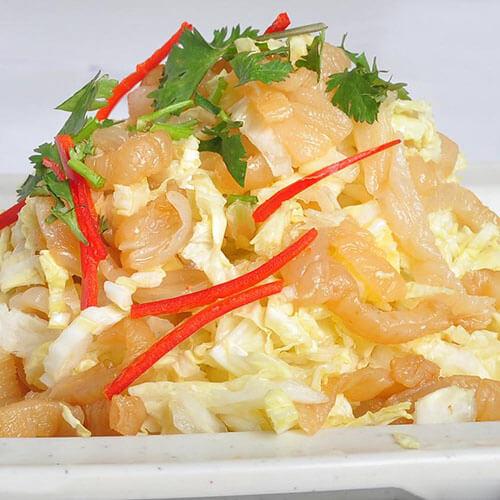 白菜丝拌海蜇皮