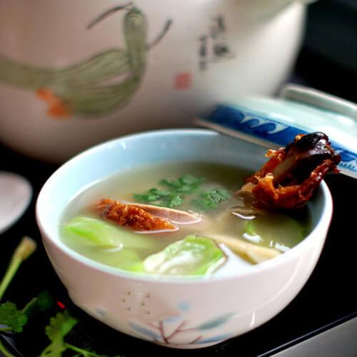 鸭架丝瓜汤