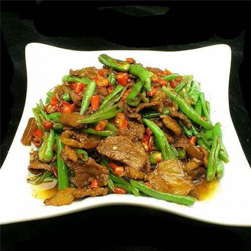 龙牙豆炒肉
