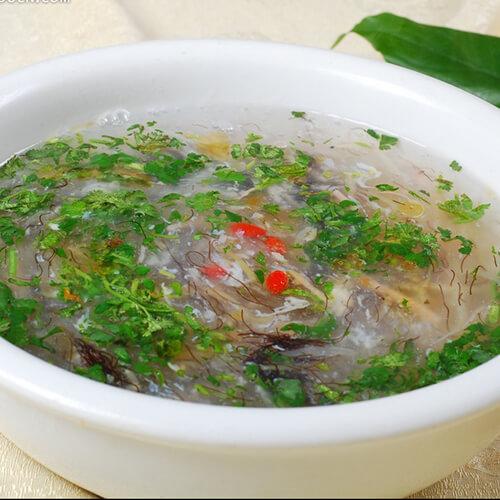 银鱼夕阳菜汤