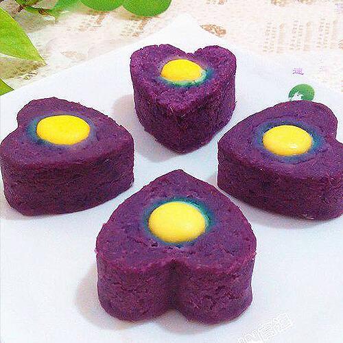 芝香紫薯酿蛋