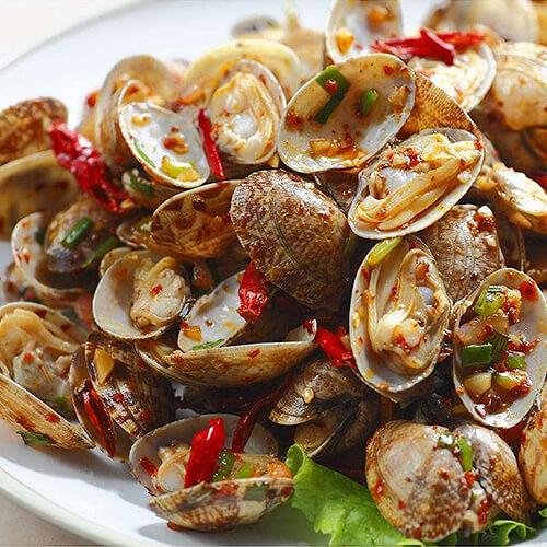 芦笋炒花蛤