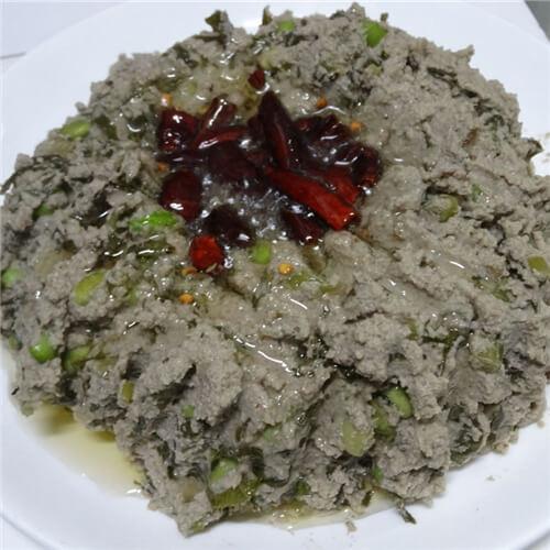 青蒜炒麻豆腐