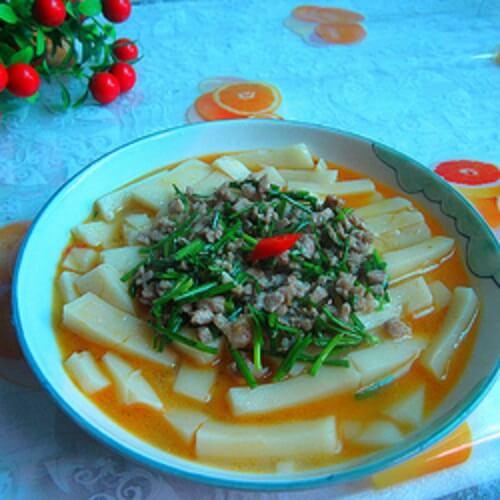 肉丁米豆腐