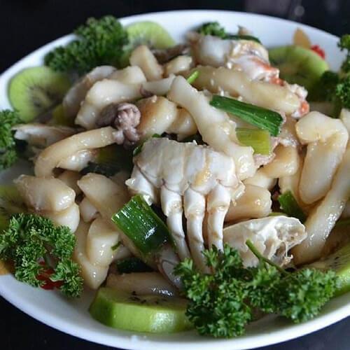 鱼子酱杂蔬炒白粿