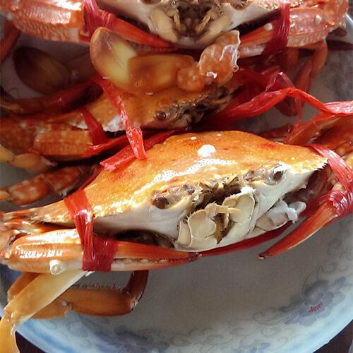 清蒸兰花蟹