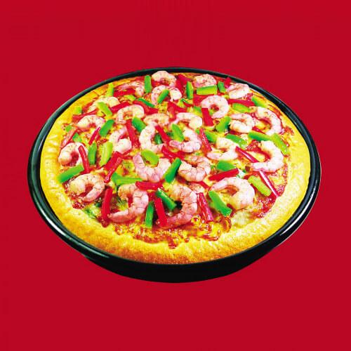 蟹味五彩脆底披萨