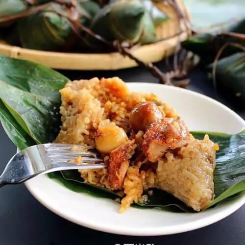 豆香烧肉粽