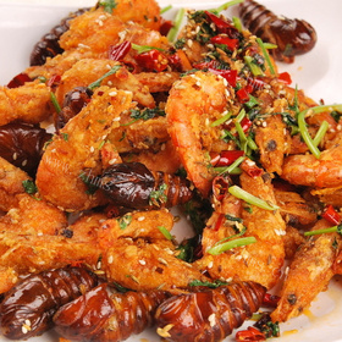 红花豆煮鲜虾