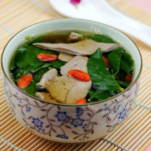 鸡肉冬寒菜汤