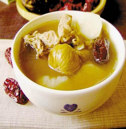 红枣板栗猪骨汤