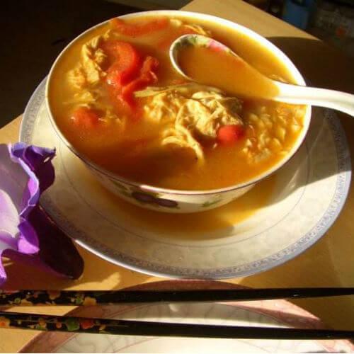 豆皮西红柿汤