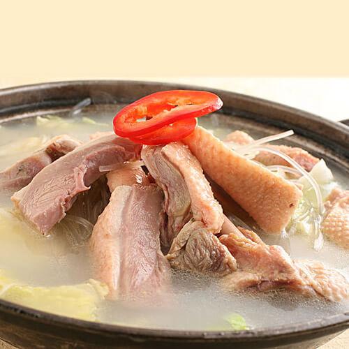 咸鸭冬笋白菜汤