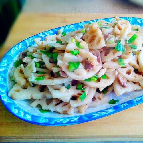 藕片炒鸭丁