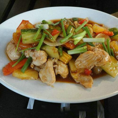 鸡脯肉炒杂蔬