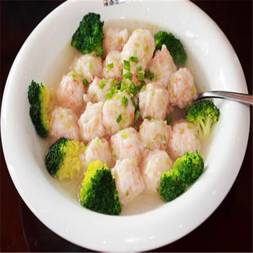 葫芦虾仁丸子汤