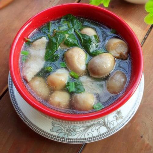 草菇枸杞菜汤