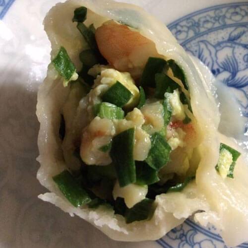 韭黄鸡蛋虾仁三鲜饺