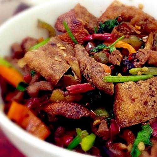 小肠烧豆腐
