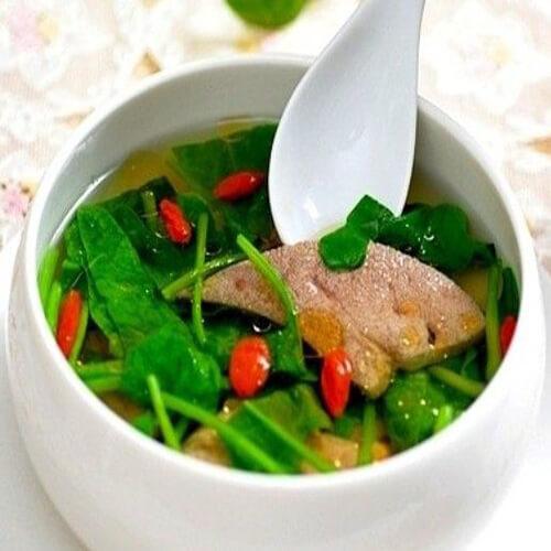 蛏干猪肝汤