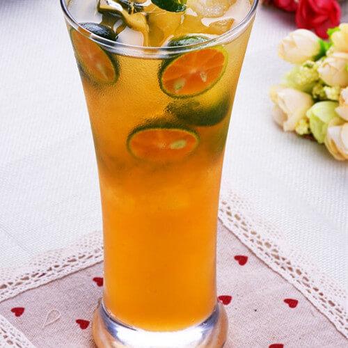 百香果青柠檬蜂蜜水