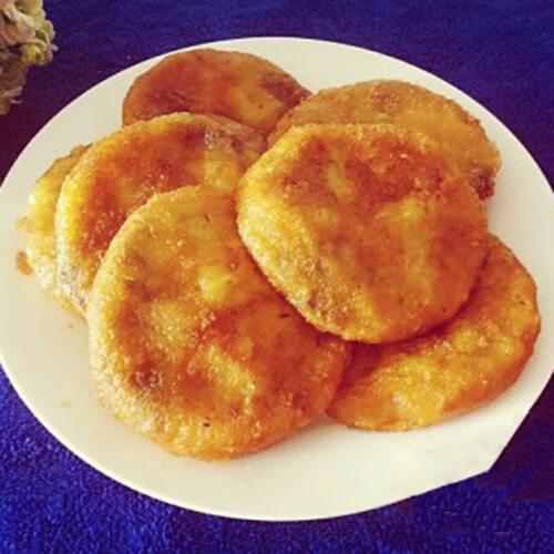 黄米面红豆沙炸糕