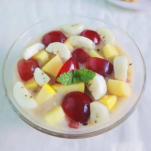 水果五仁月饼粥
