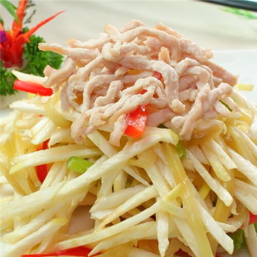 自制茭白炒豌豆