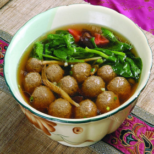 面筋丸子煮葫芦汤