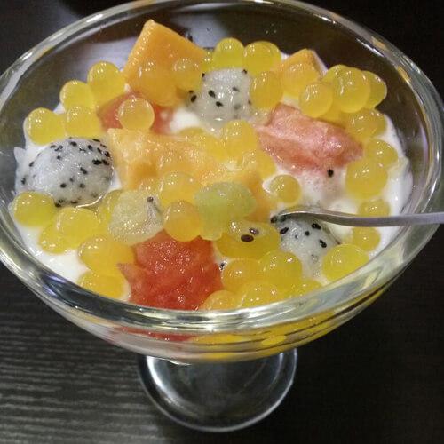 酸奶西米水果捞