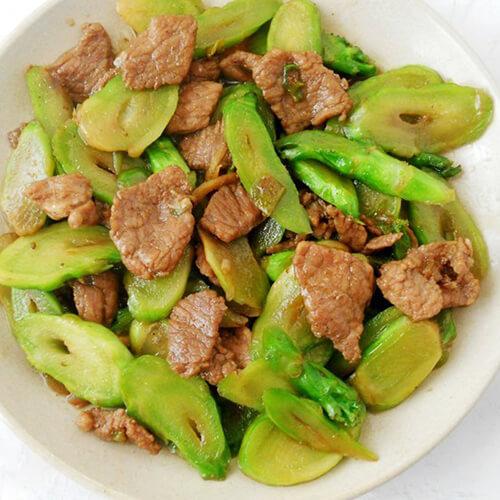 儿菜炒肉片