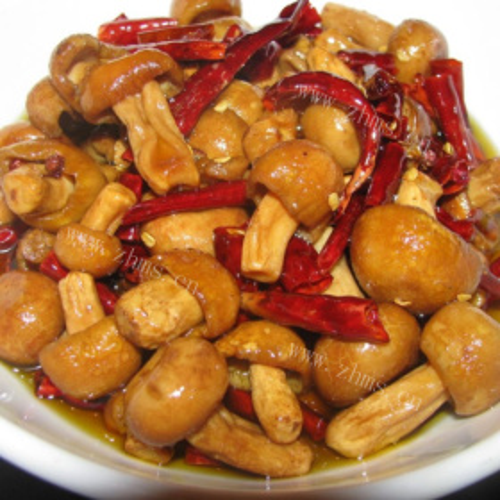干椒炒青头菌