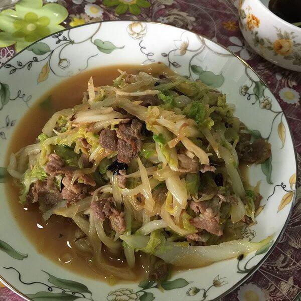 羊肉炒白菜