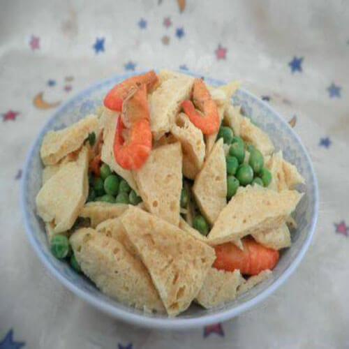 河虾炒脆豆腐